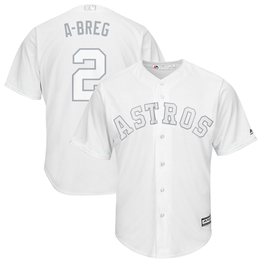 Men Houston Astros 2 A breg white MLB Jerseys