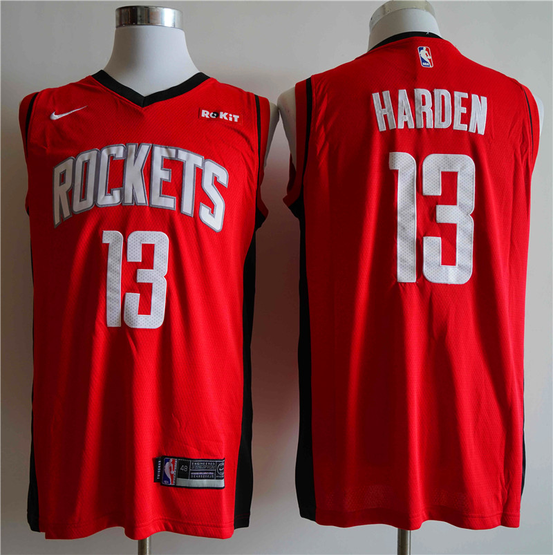 Men Houston Rockets 13 Harden Red Nike NBA Jerseys