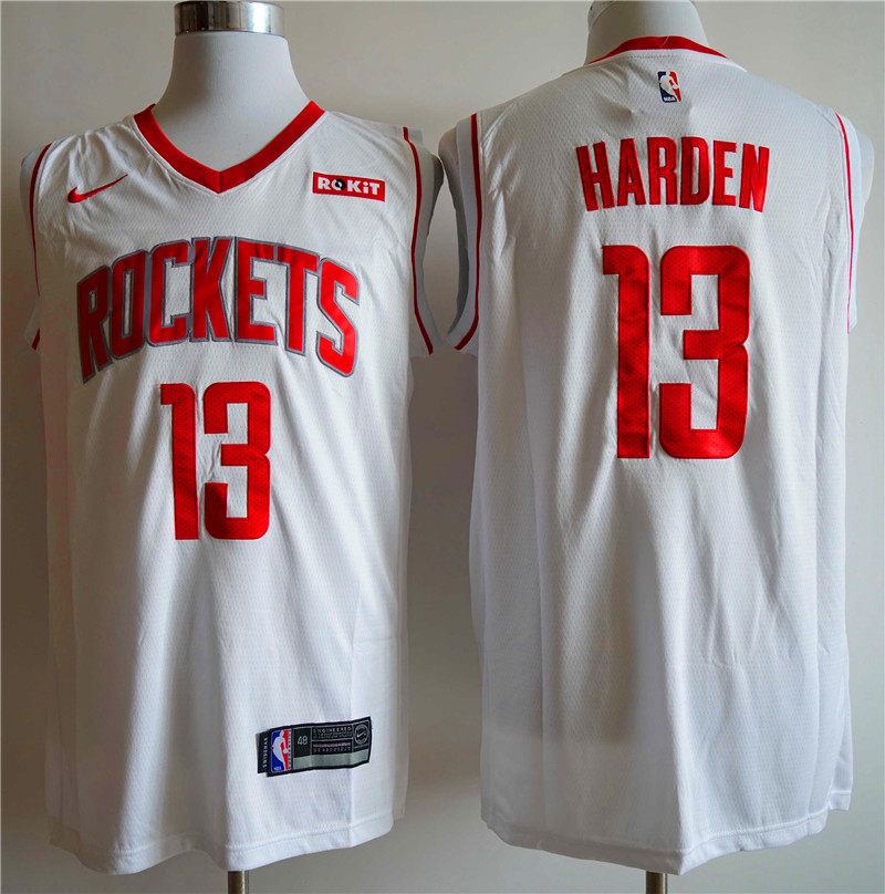 Men Houston Rockets 13 Harden white Nike NBA Jerseys
