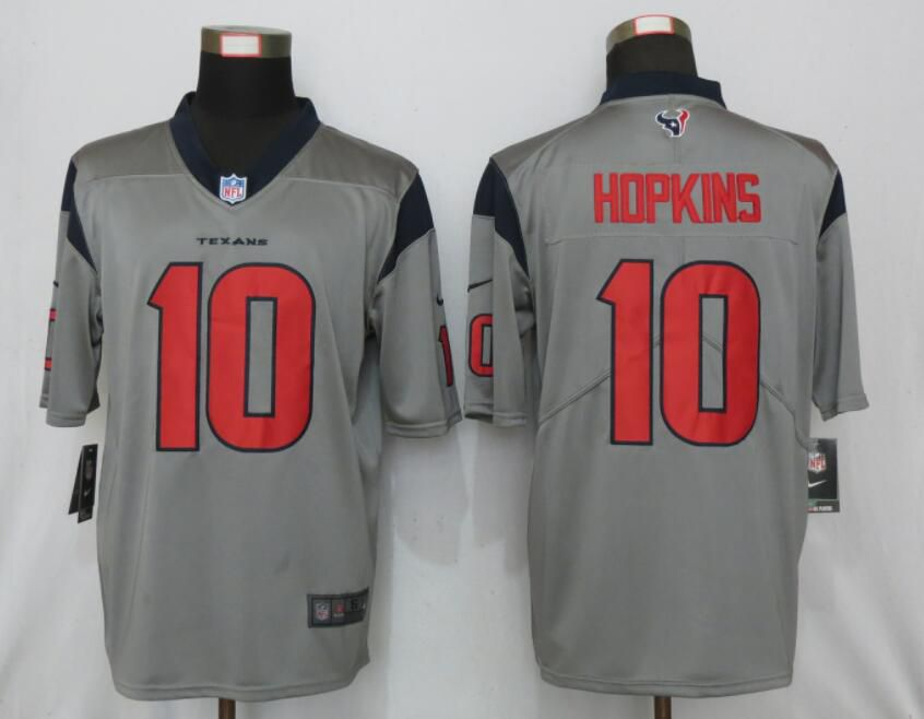 Men Houston Texans 10 Hopkins 2019 Vapor Untouchable Nike Gray Inverted Legend Jersey