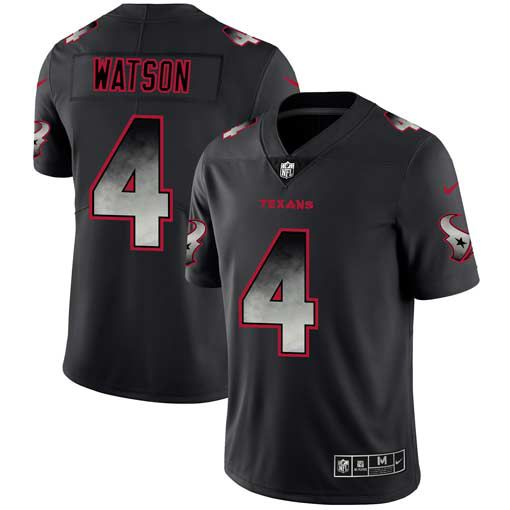 Men Houston Texans 4 Watson Nike Teams Black Smoke Fashion Limited NFL Jerseys