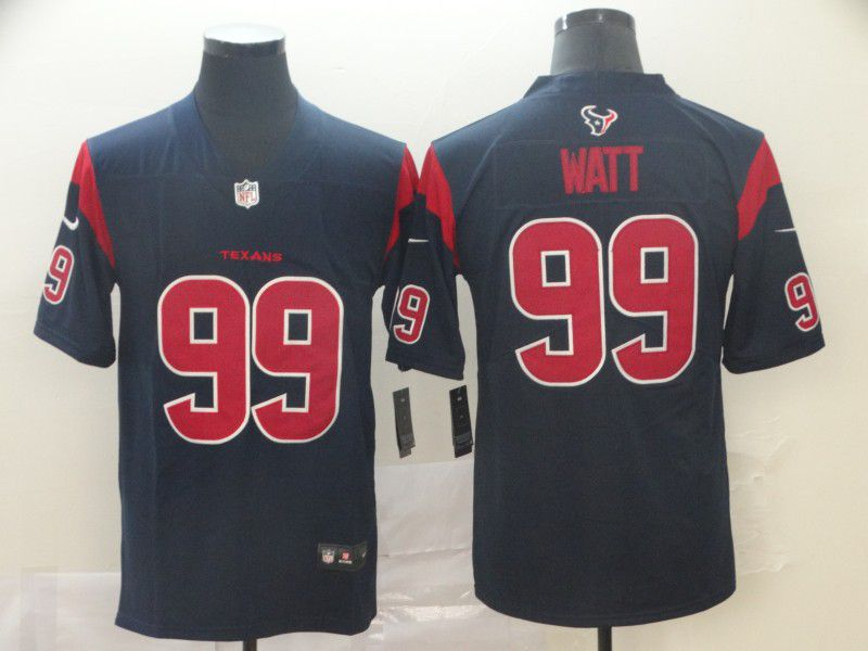 Men Houston Texans 99 Watt Blue Nike Vapor Untouchable Limited Player NFL Jerseys