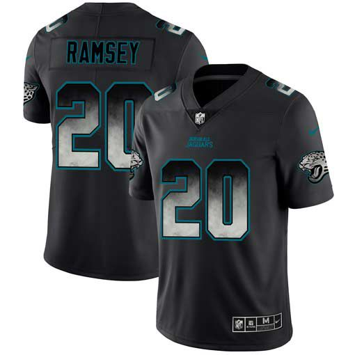 Men Jacksonville Jaguars 20 Ramsey Nike Teams Black Smoke Fashion Limited NFL Jerseys