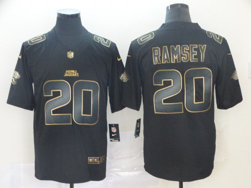 Men Jacksonville Jaguars 20 Ramsey Nike Vapor Limited Black Golden NFL Jerseys