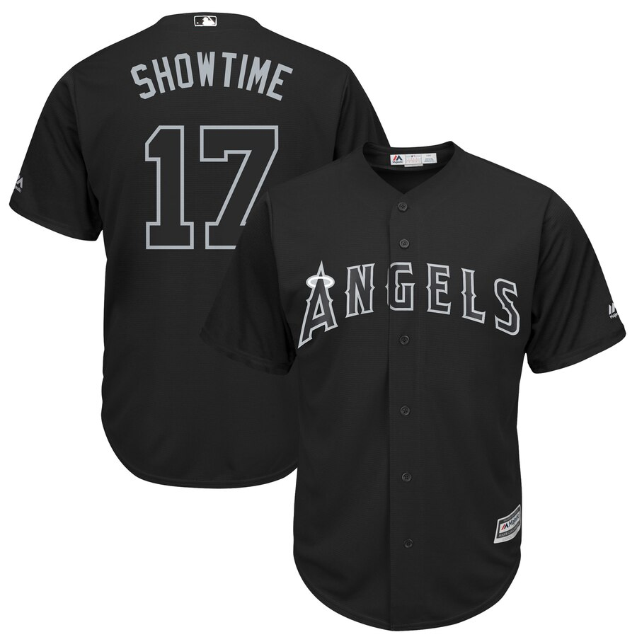 Men Los Angeles Angels 17 Showtime black MLB Jerseys