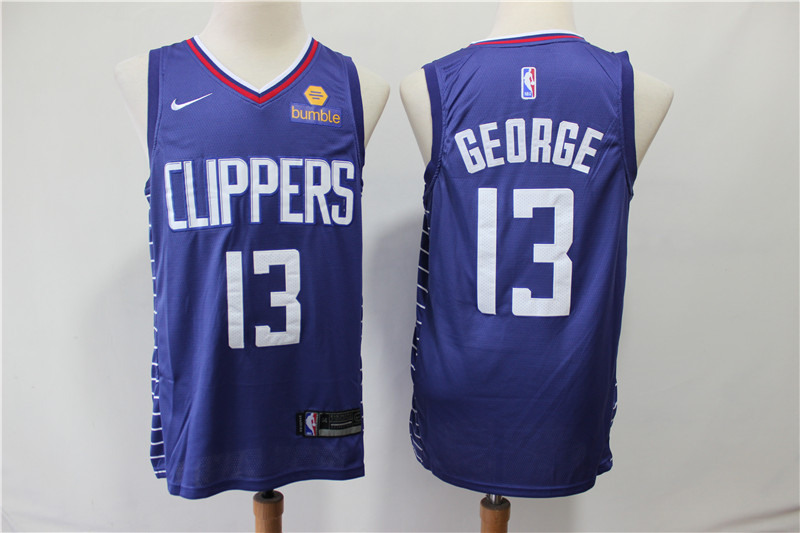 Men Los Angeles Clippers 13 George blue Game Nike NBA Jerseys