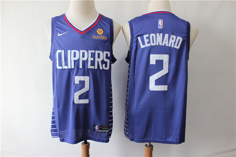 Men Los Angeles Clippers 2 Leonard blue Game Nike NBA Jerseys