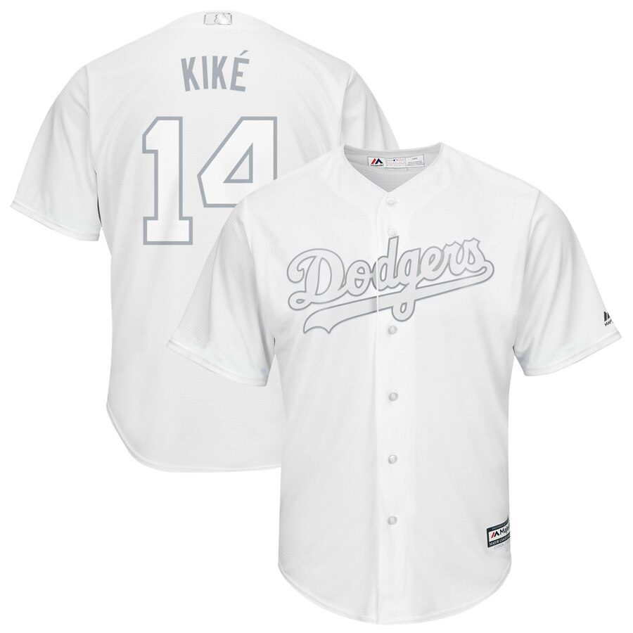 Men Los Angeles Dodgers 14 Kike white MLB Jersey