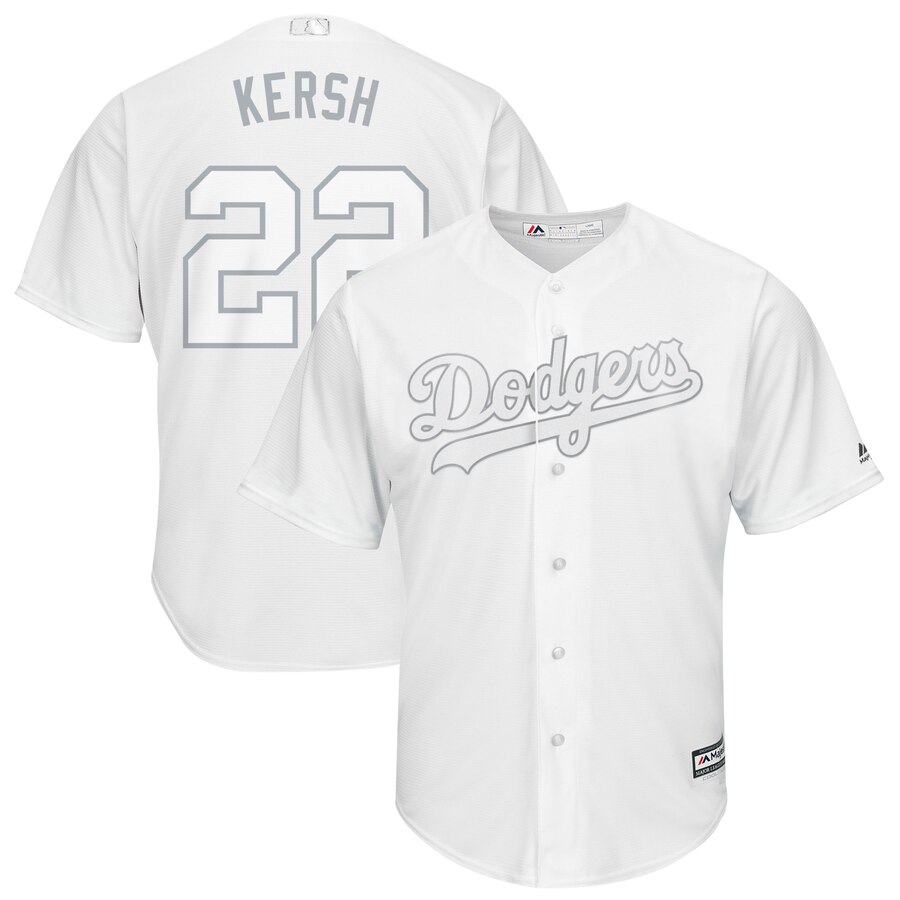 Men Los Angeles Dodgers 22 Kersh white MLB Jersey