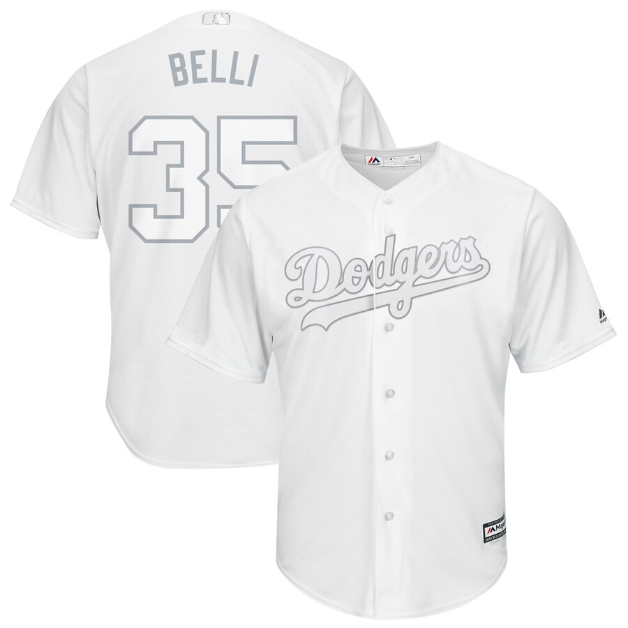 Men Los Angeles Dodgers 35 Belli white MLB Jersey