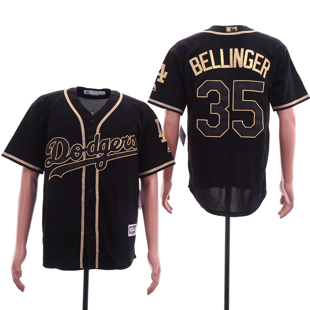 Men Los Angeles Dodgers 35 Bellinger Black elite MLB Jerseys