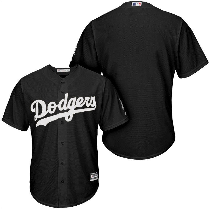 Men Los Angeles Dodgers blank black game customized MLB Jersey