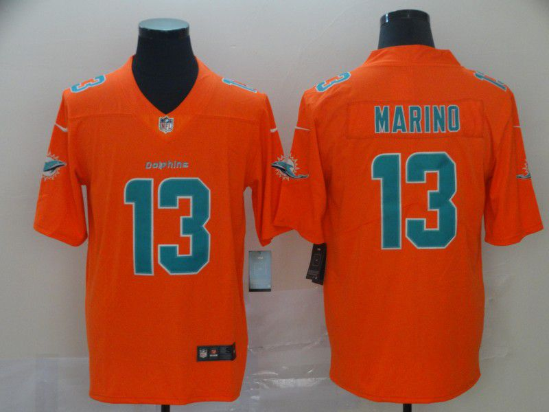 Men Miami Dolphins 13 Marino Orange 2019 Vapor Untouchable Nike Inverted Legend NFL Jerseys