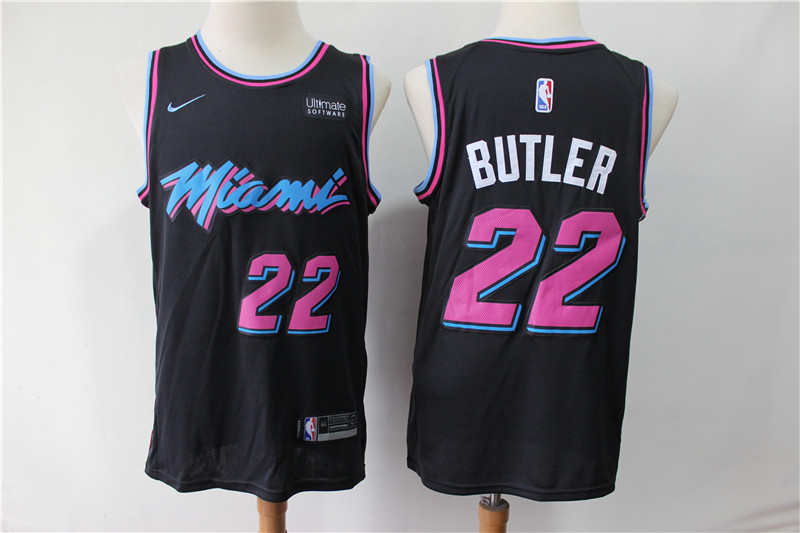 Men Miami Heat 22 Butler Black City Edition Game Nike NBA Jerseys