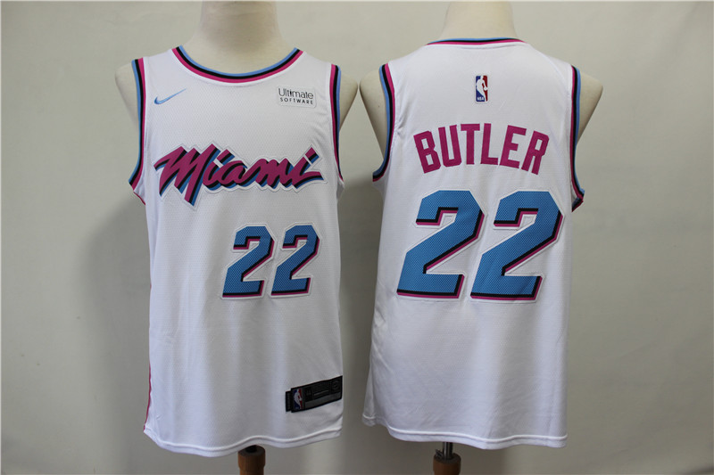 Men Miami Heat 22 Butler white City Edition Game Nike NBA Jerseys