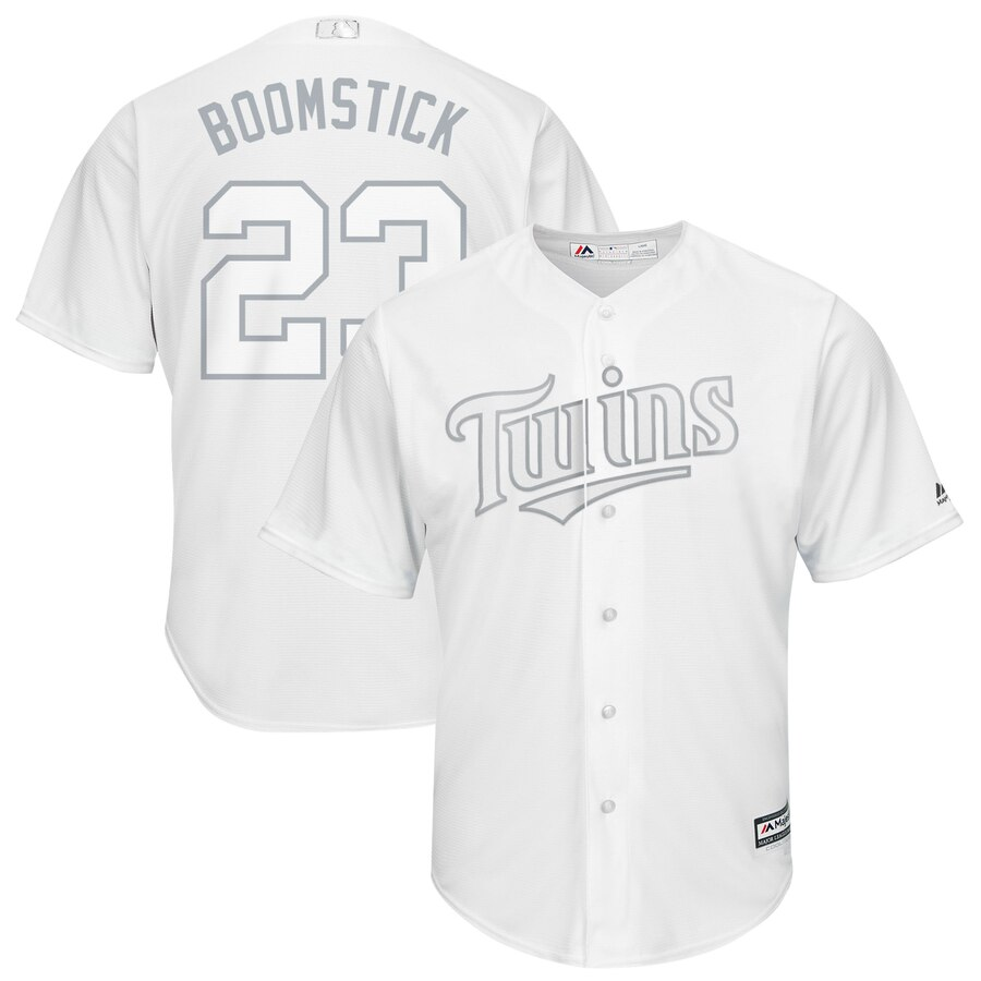 Men Minnesota Twins 23 Boomstick white MLB Jerseys