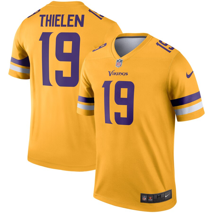 Men Minnesota Vikings 19 Thielen Yellow Limited NFL Nike Jersey