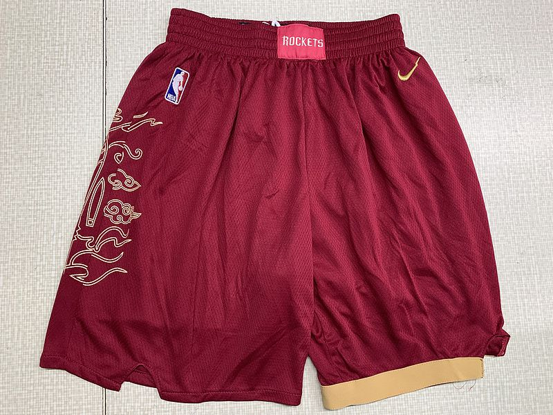 Men NBA Nike Houston Rockets red shorts