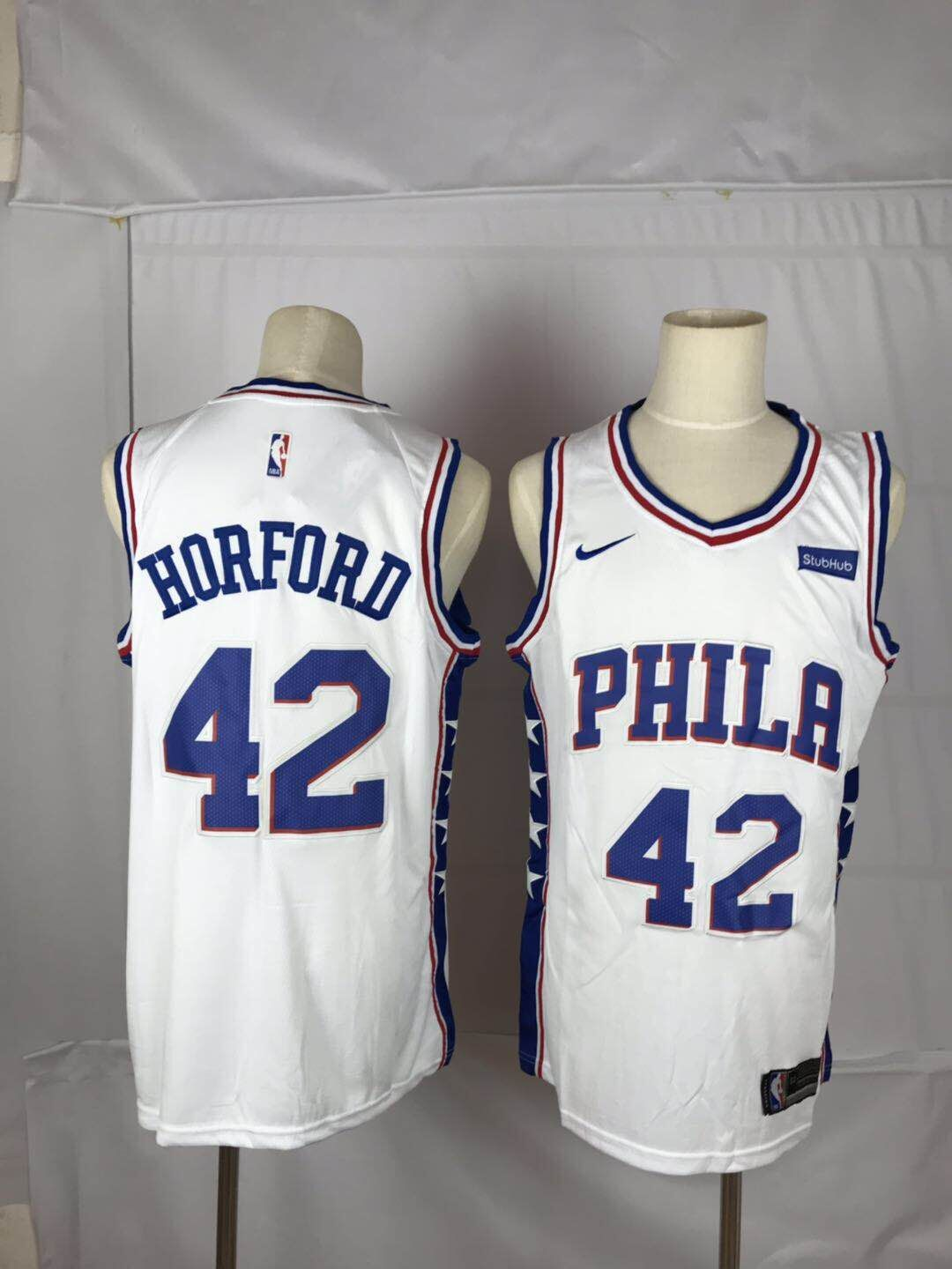 Men New NBA Philadelphia 76ers 42 Horford white Nike Jerseys