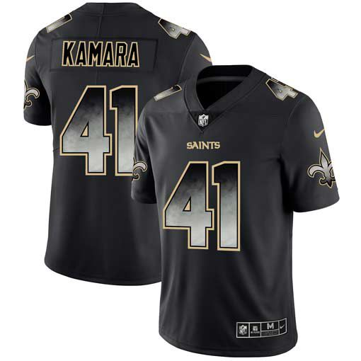 Men New Orleans Saints 41 Kamara Nike Teams Black Smoke Fashion Limited NFL Jerseys
