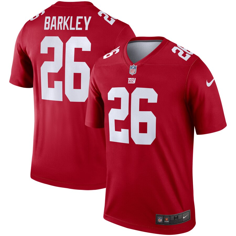 Men New York Giants 26 Barkley red Nike Limited NFL Jerseys