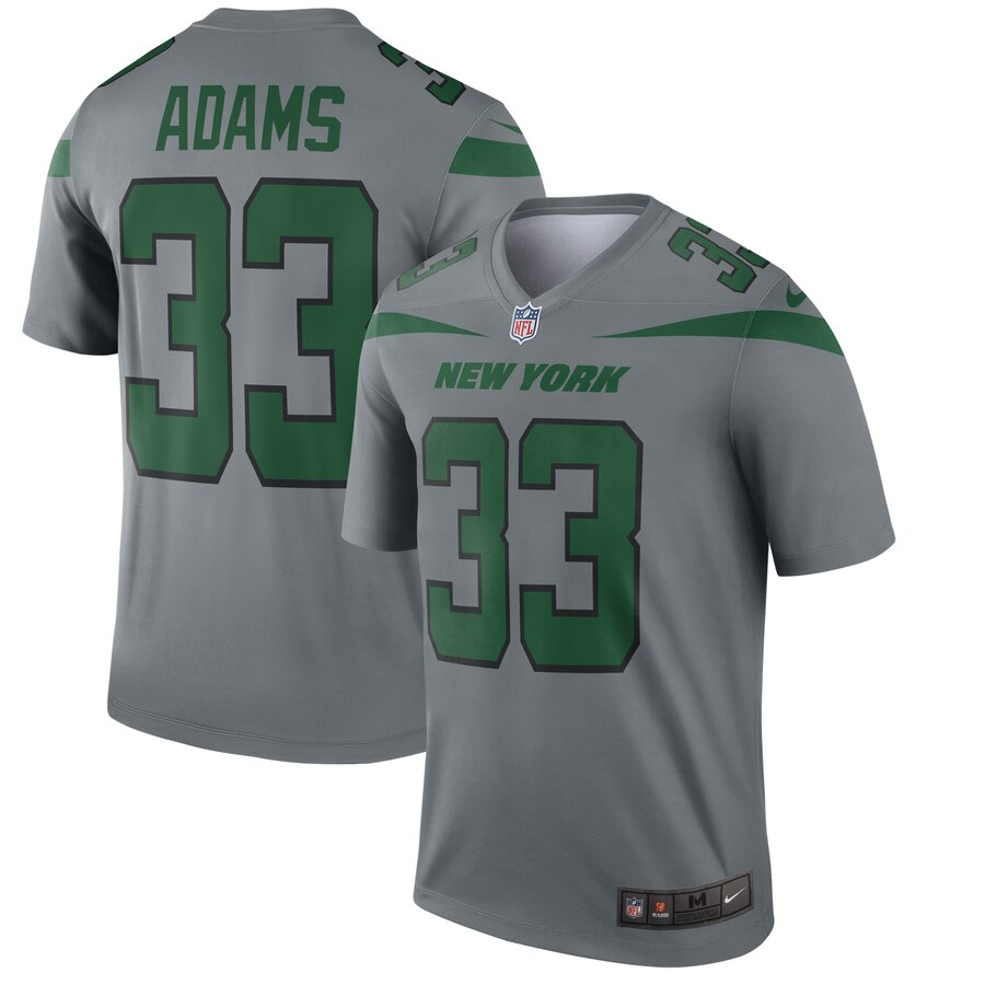 Men New York Jets 33 Adams grey Nike Limited Player NFL Jerseys