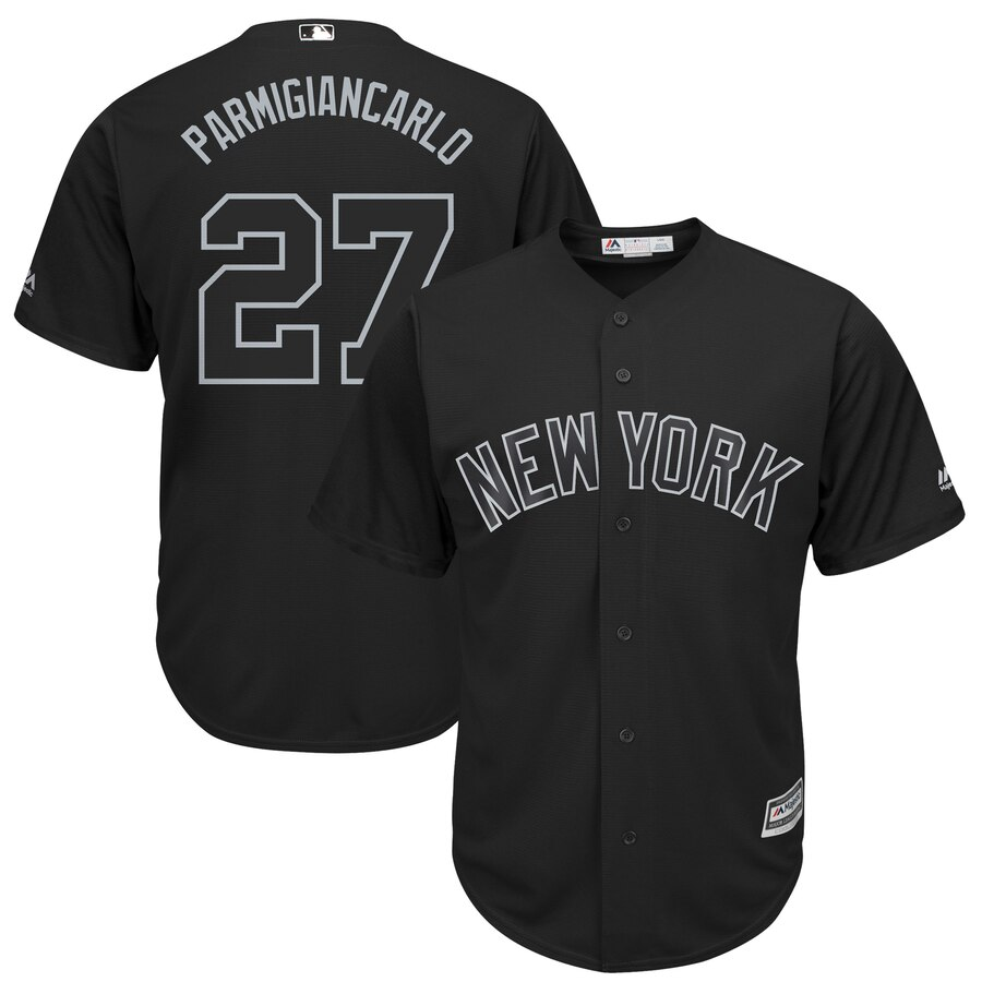 Men New York Mets 27 Parmigiancarlo black MLB Jerseys