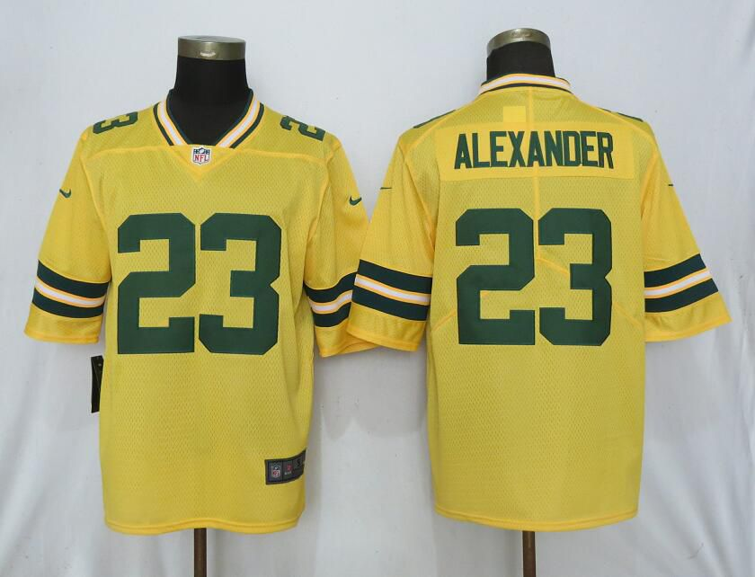Men Nike Green Bay Packers 23 Alexander 2019 Vapor Untouchable Gold Inverted Legend Limited Jersey