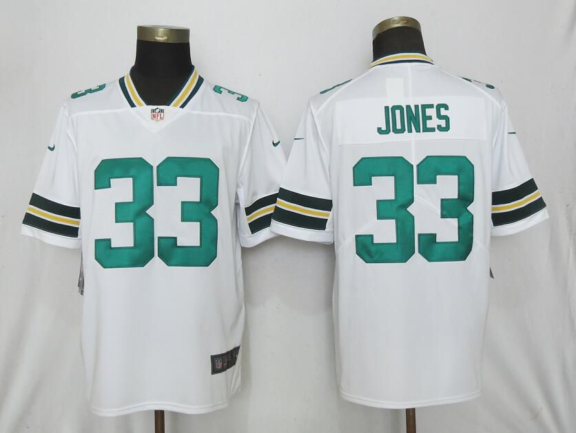 Men Nike Green Bay Packers 33 Jones White 2017 Vapor Untouchable Limited jerseys