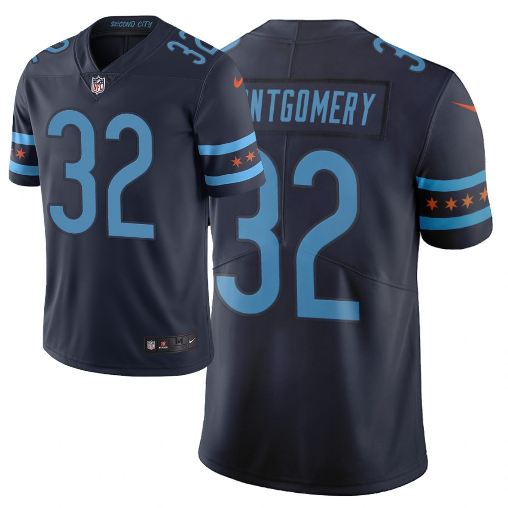 Men Nike NFL Chicago Bears 32 david montgomery Limited city edition navy jersey