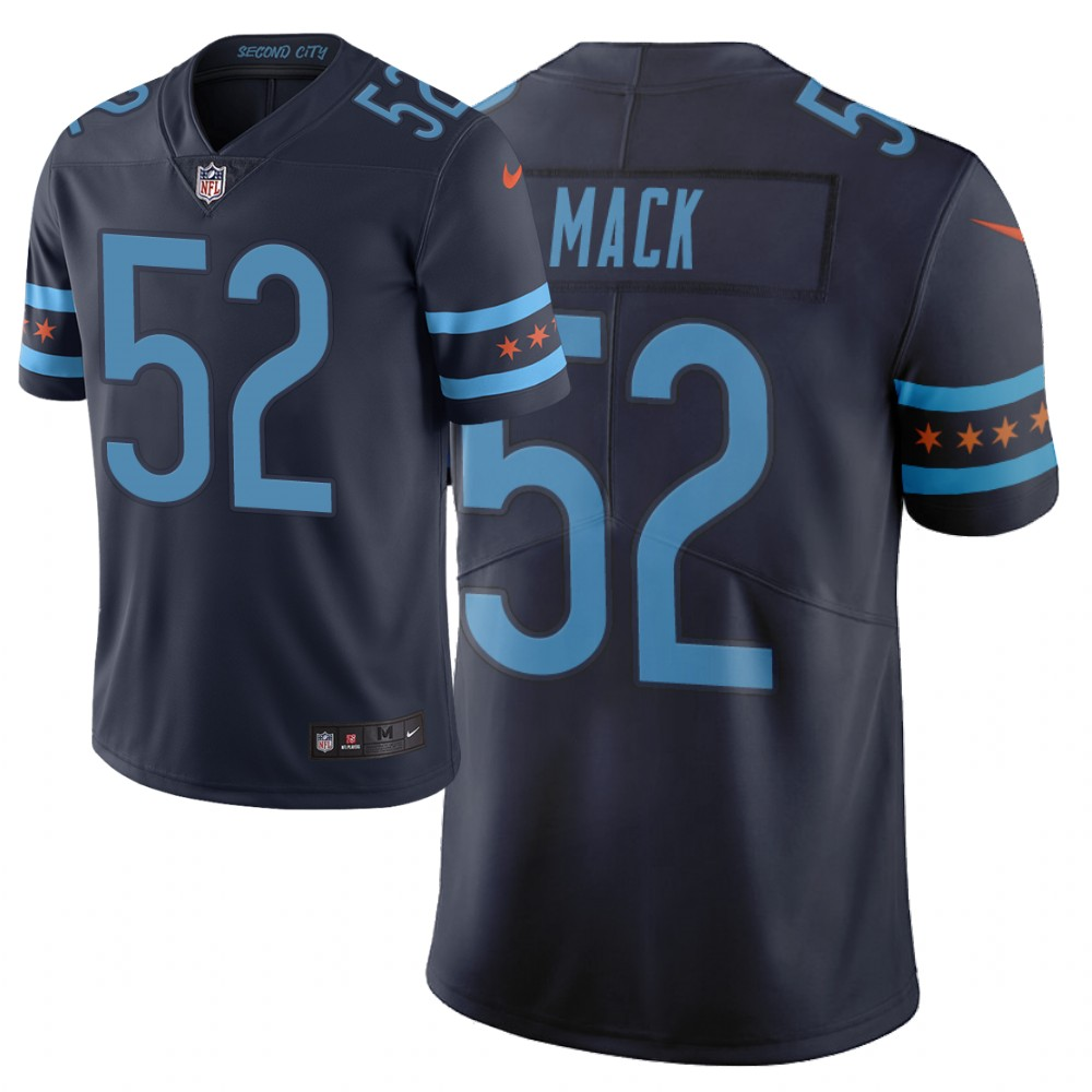 Men Nike NFL Chicago Bears 52 khalil mack Limited city edition navy jersey