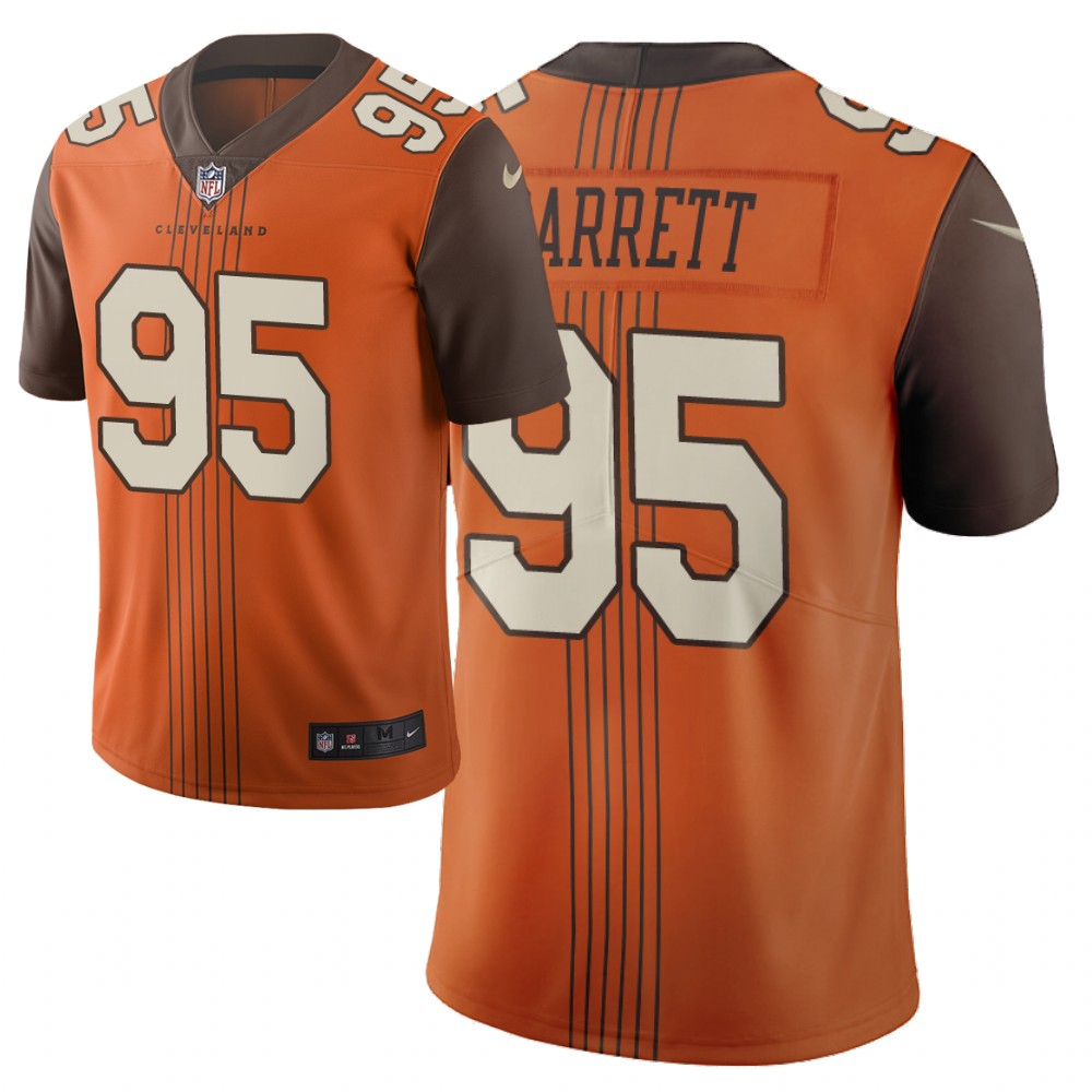 Men Nike NFL Cleveland Browns 95 myles garrett browns Limited city edition brown jersey