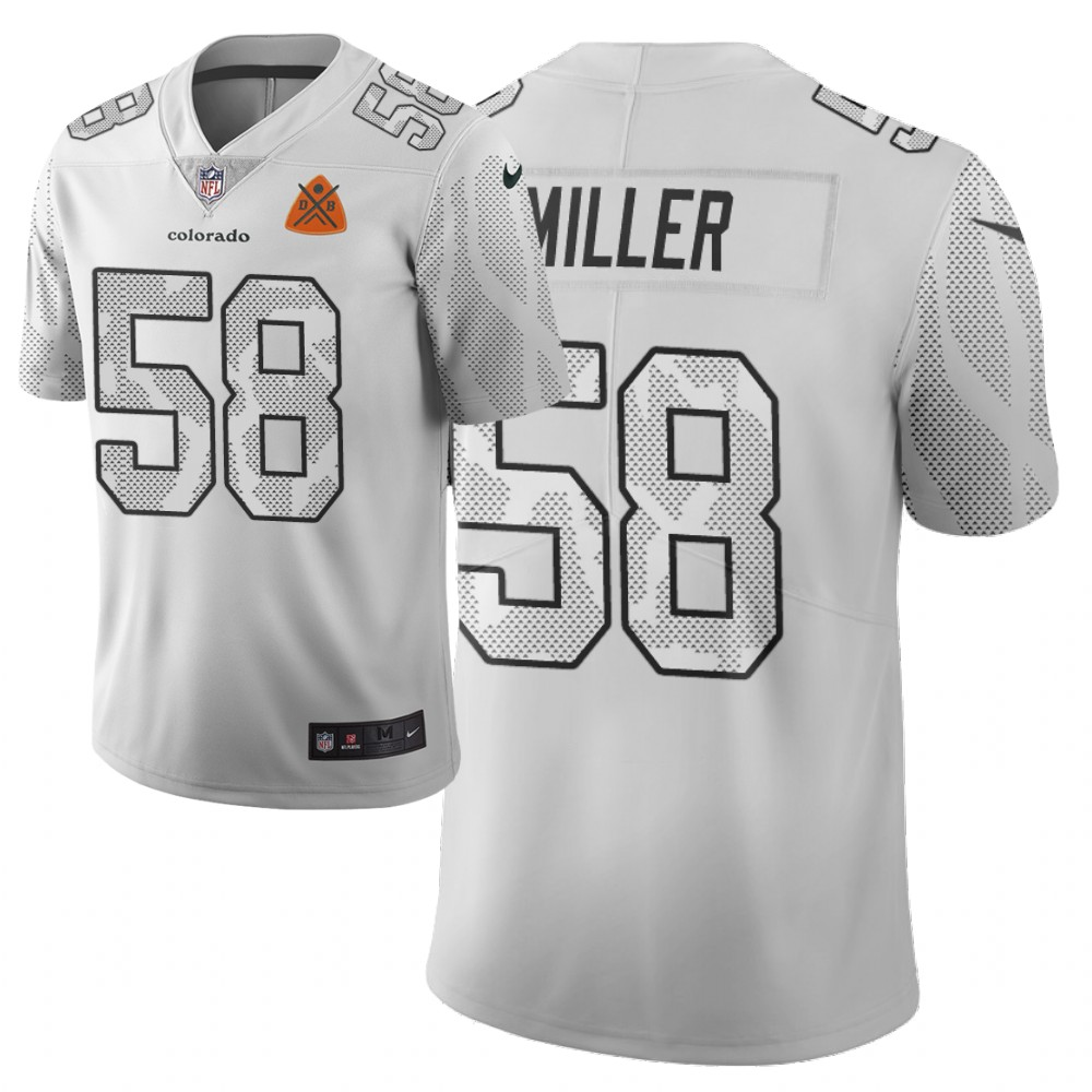 Men Nike NFL Denver Broncos 58 von miller Limited city edition white jersey
