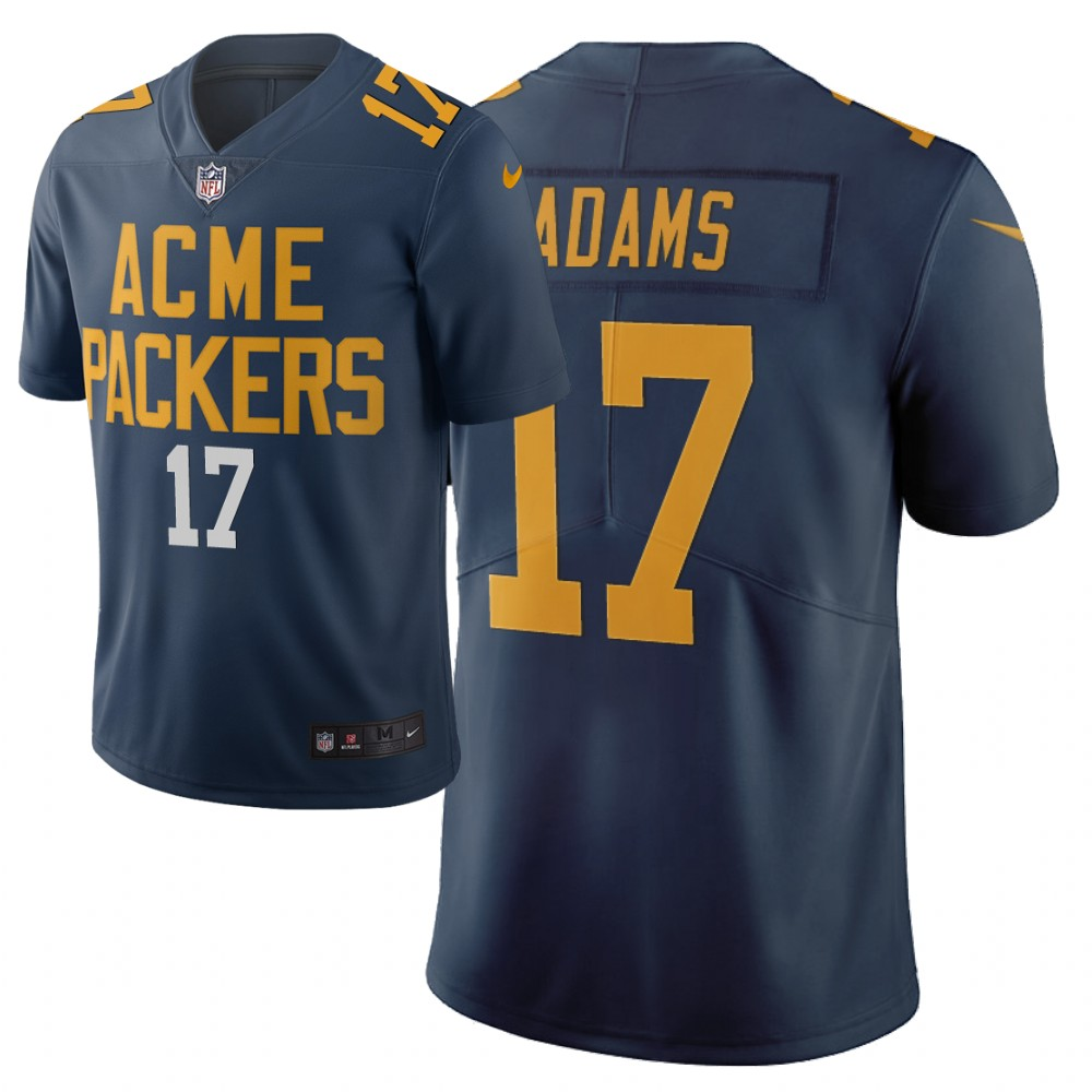 Men Nike NFL Green Bay Packers 17 davante adams Limited city edition navy jersey