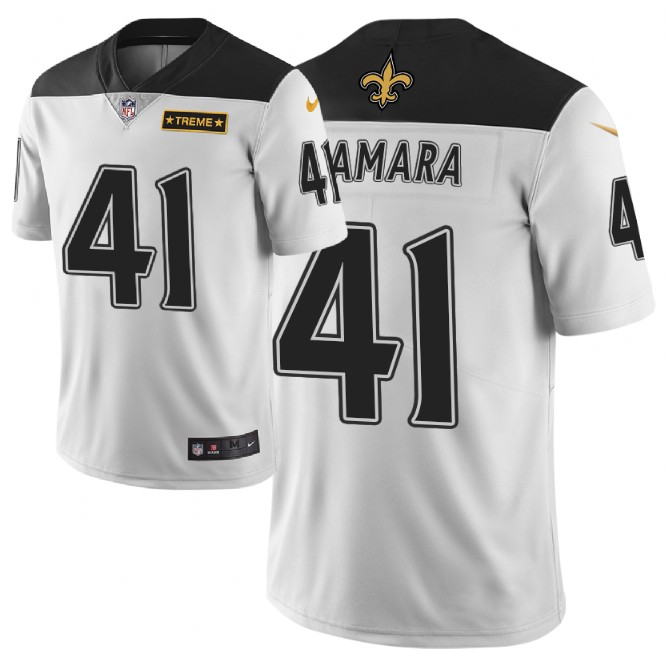 Men Nike NFL New Orleans Saints 41 alvin kamara Limited city edition white jersey