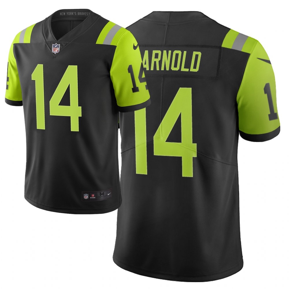 Men Nike NFL New York Jets 14 sam darnold Limited city edition black green jersey
