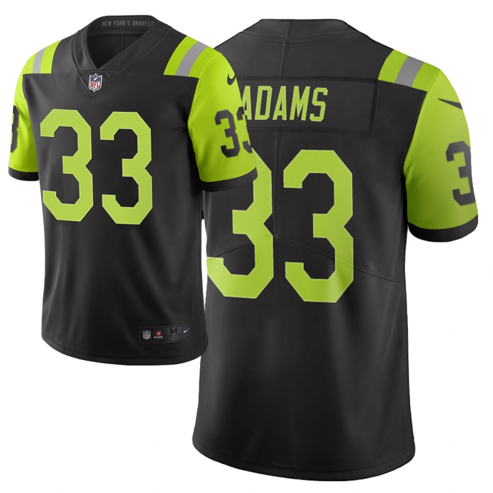 Men Nike NFL New York Jets 33 jamal adams Limited city edition black green jersey