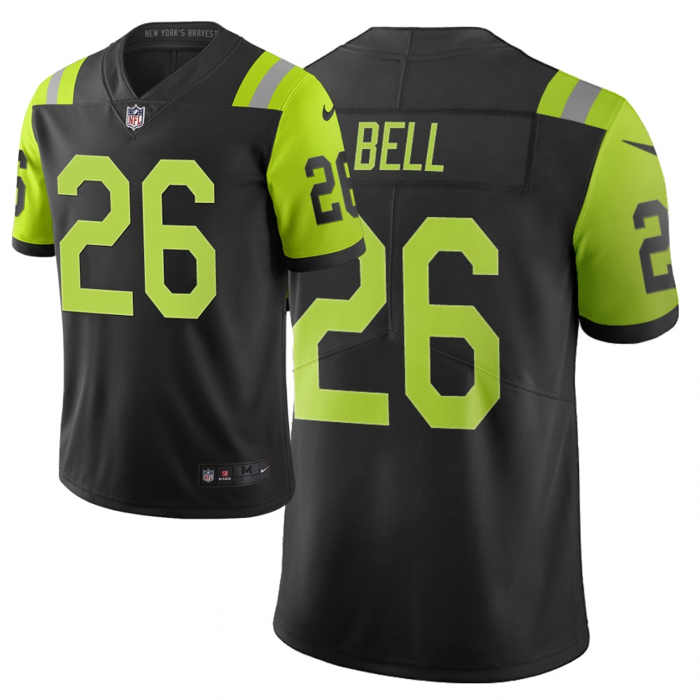 Men Nike NFL Pittsburgh Steelers 26 bell jets Limited city edition black green jersey