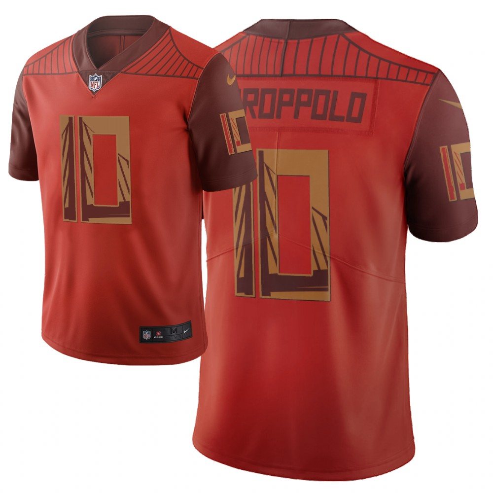 Men Nike NFL San Francisco 49ers 10 jimmy garoppolo Limited city edition orange jersey