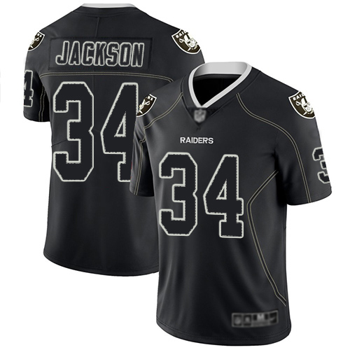 Men Oakland Raiders 34 Jackson black Nike Limited NFL Jerseys