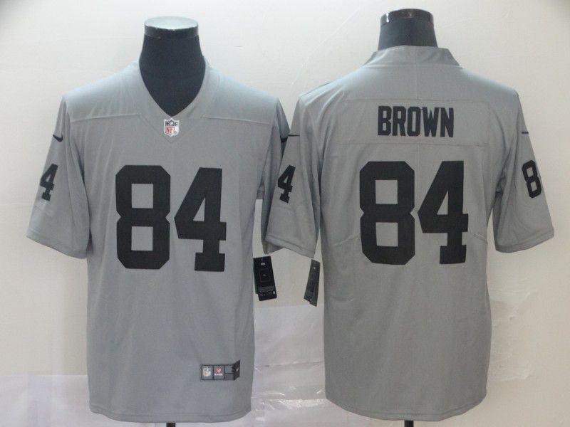 Men Oakland Raiders 84 Brown 2019 Vapor Untouchable Nike Gray Inverted Legend NFL Jerseys