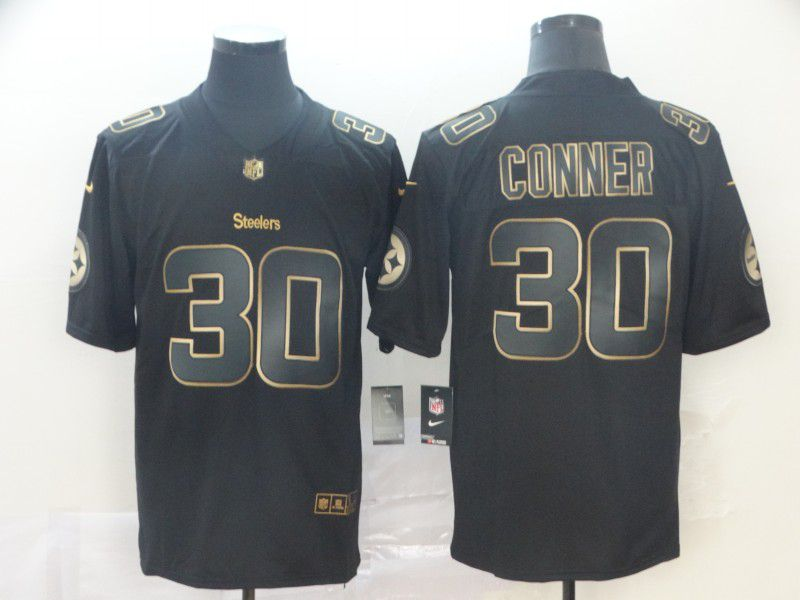 Men Pittsburgh Steelers 30 Conner Nike Vapor Limited Black Golden NFL Jerseys