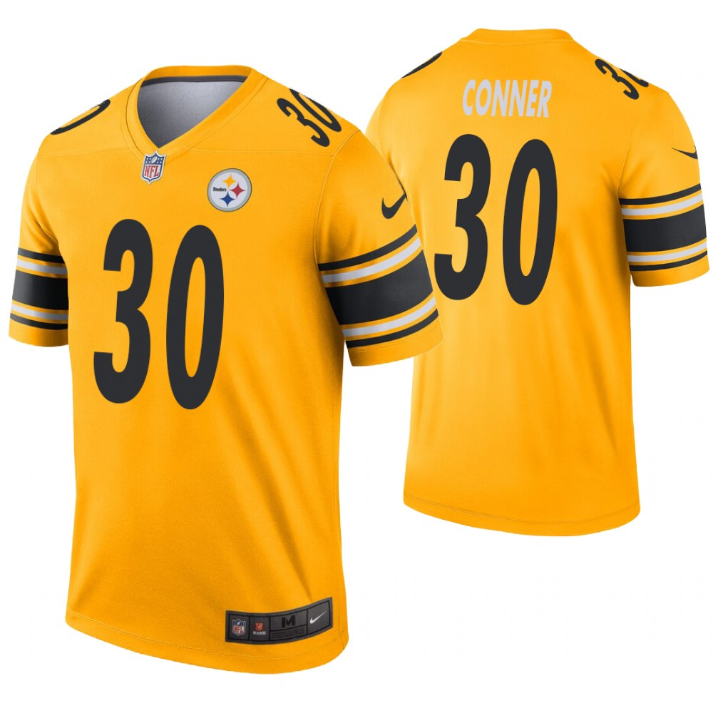 Men Pittsburgh Steelers 30 Conner yellow Nike Limited NFL Jerseys