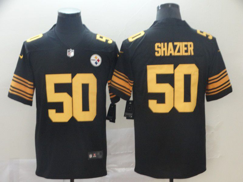 Men Pittsburgh Steelers 50 Shazier Black Nike Vapor Untouchable Limited Playey NFL Jerseys