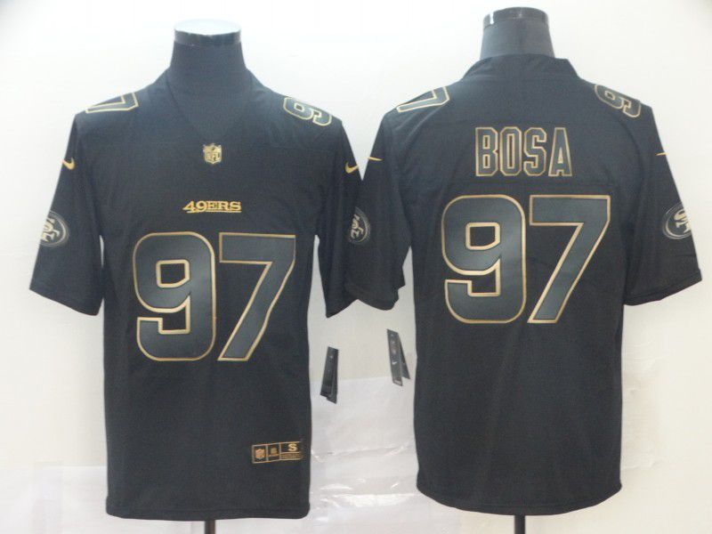 Men San Francisco 49ers 97 Bosa Nike Vapor Limited Black Golden NFL Jerseys