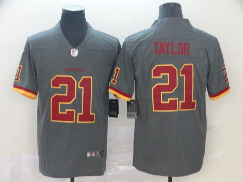 Men Washington Redskins 21 Taylor 2019 Vapor Untouchable Nike Gray Inverted Legend NFL Jerseys