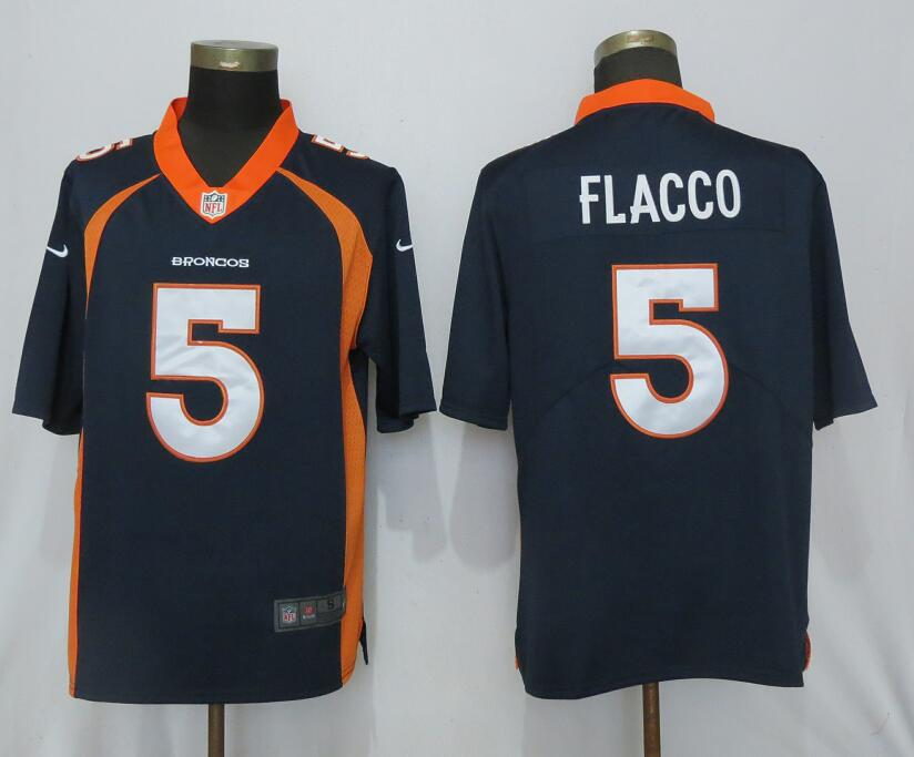 NEW Nike Denver Broncos 5 Flacco Blue 2017 Vapor Untouchable Limited jerseys