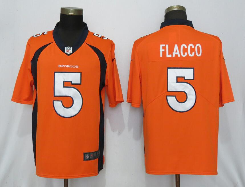 NEW Nike Denver Broncos 5 Flacco Orange 2017 Vapor Untouchable Limited jerseys
