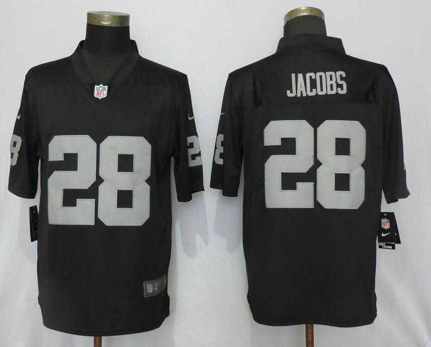 New Nike Oakland Raiders 28 Jacobs Black 2017 Vapor Untouchable Limited jerseys