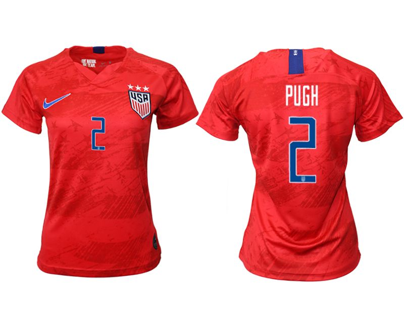 Women 2019-2020 Season National Team America away aaa 2 red Soccer Jerseys
